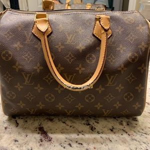 Authentic Louis Vuitton Speedy 30 Monogram HandBag
